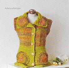 Iné oblečenie - háčkovaná vesta-zľava zo79,0€ - 10304996_