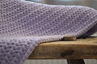 Textil - Háčkovaná deka #Nežná fialková - 10304416_