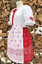 Šaty - Folklórny dámsky kroj červený 2 - 10304069_
