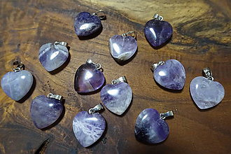 Minerály - Ametyst prívesok srdce 1 - 10304306_