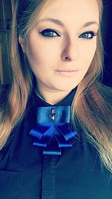 Odznaky/Brošne - Motýlikobrošňa modrá - 10303561_