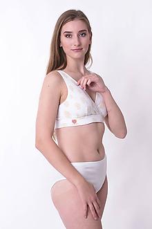 Bielizeň/Plavky - Športová podprsenka z bio bavlny GOTS - zlaté oblaky - 10306656_