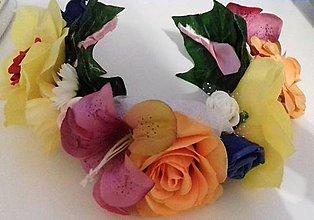 Ozdoby do vlasov - Kvetinová čelenka - 10305531_