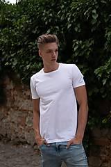 - Pánske tričko z organickej bavlny krátky rukáv, okrúhly výstrih - 10304797_