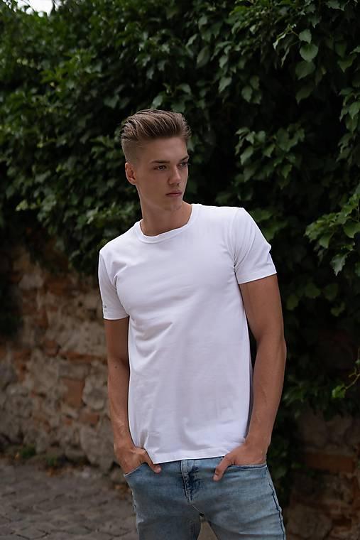 Pánske tričko z organickej bavlny krátky rukáv, okrúhly výstrih