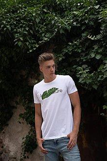 Oblečenie - Pánske tričko z organickej bavlny krátky rukáv, okrúhly výstrih Green Collection - 10304763_