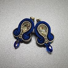 Náušnice - Náušnice Modrá Elegancia - 10305252_