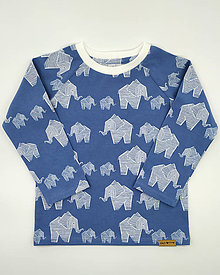 Detské oblečenie - Sloníkové tričko v troch farbách (Modrá) - 10304121_