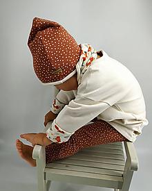 Detské oblečenie - Krémový predĺžený pulover - 10304218_