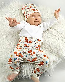 """Detské oblečenie - Baby nohavice """"Líška a ježko"""" - 10305364_"""