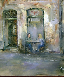 Obrazy - ,,Pri kávičke,, - 10305603_