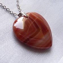 Náhrdelníky - Achátové srdce - 10304903_