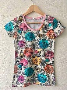 Tričká - Tričko-motýle - 10303685_