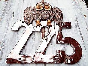Tabuľky - Domové číslo so sovou - 10305555_