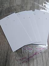 Obalový materiál - Kartičky na náušnice 9x5 cm - 10303454_