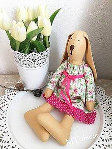 Bábiky - ZAJAČICA - zajka, zajko - 10304753_