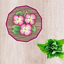 Pomôcky - Podšálky kvetové (imitácia drevo) - 10304626_