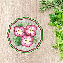 Pomôcky - Podšálka kvetová (imitácia plátno 1) - 10304636_