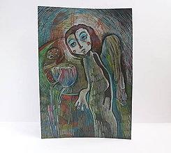 Kresby - anjelsky zakvitli - 10307844_
