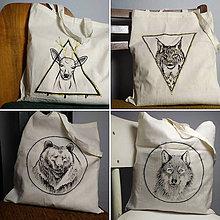 Nákupné tašky - Maľované tašky- lesné zvieratká - 10310243_