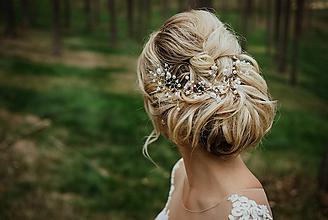 Ozdoby do vlasov - Svadobná Perlová ozdoba do vlasov - 10309426_