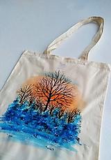 Nákupné tašky - Zimné stromy - nákupná taška - 10309060_