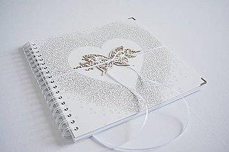 Papiernictvo - Svadobný album - srdiečkový 24,5 x 24,5 cm - 10309465_