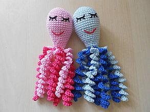 Hračky - Chobotničky pre bábätká (Modrá) - 10307040_