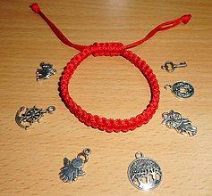 Náramky - red color -proti urieknutiu - 10309673_