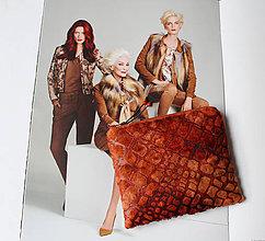 Taštičky - SAShEnka no. 200 - ako koža taštička (ako koža (B)) - 10308470_