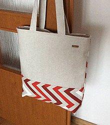Nákupné tašky - taška cikcak - 10307089_