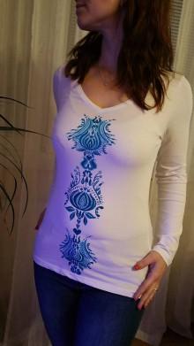 Tričká - Maľované tričko - 10310581_