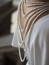 Náhrdelníky - perlový náhrdelník - shell perly (6mm dĺžka podľa vlastného želania - dĺžka do 51 cm) - 10309435_
