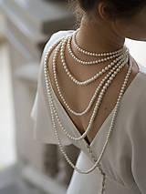 Náhrdelníky - perlový náhrdelník - shell perly (6mm perly dĺžka 41 cm) - 10309437_