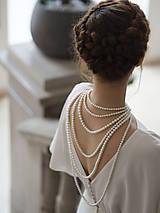 Náhrdelníky - perlový náhrdelník - shell perly - 10309582_