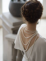 Náhrdelníky - perlový náhrdelník - shell perly (6mm perly dĺžka 41 cm) - 10309582_