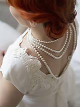 Náhrdelníky - perlový náhrdelník - shell perly (6mm dĺžka podľa vlastného želania - dĺžka do 51 cm) - 10309601_