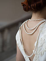 Náhrdelníky - perlový náhrdelník - shell perly (6mm perly dĺžka 41 cm) - 10309617_