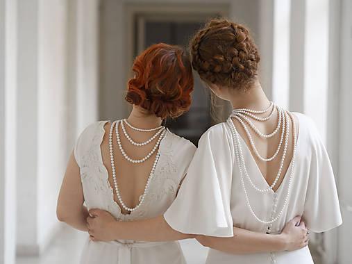 perlový náhrdelník - shell perly (6mm dĺžka podľa vlastného želania - dĺžka do 51 cm)