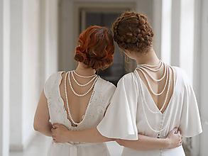 Náhrdelníky - perlový náhrdelník - shell perly - 10309438_