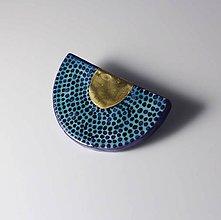 Odznaky/Brošne - Tana šperky - keramika/zlato - 10307171_