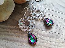 Náušnice - Swarovski baroque tropic,crystal AB - 10311023_