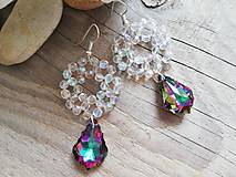 Náušnice - Swarovski baroque tropic,crystal AB - 10311025_