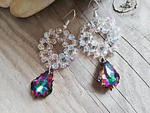Náušnice - Swarovski baroque tropic,crystal AB - 10311026_