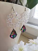 Náušnice - Swarovski baroque tropic,crystal AB - 10311029_