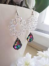 Náušnice - Swarovski baroque tropic,crystal AB - 10311030_