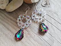 Náušnice - Swarovski baroque tropic,crystal AB - 10311033_