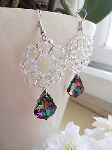 Náušnice - Swarovski baroque tropic,crystal AB - 10311032_