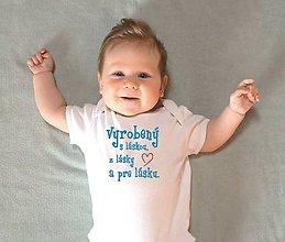 Detské oblečenie - body tajomstvo výroby - 10310444_