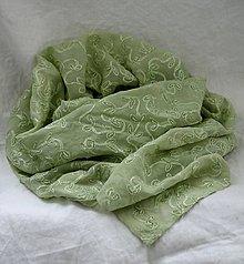 Šály - Štóla. Elegantná vyšívaná s korálikmi - 10309463_